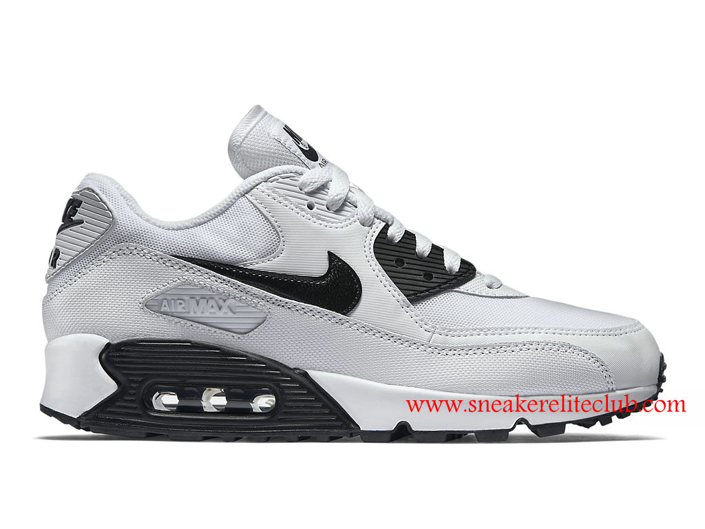 release date authentic quality elegant shoes Chaussure Femme Nike Air Max 90 Essential Pas Cher Blanc/Noir ...
