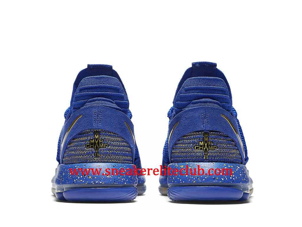 san francisco 4638a fef16 ... Chaussures BasketBall Homme Nike KD 10 Finals MVP Pas Cher Prix Bleu Or  897815_403 ...
