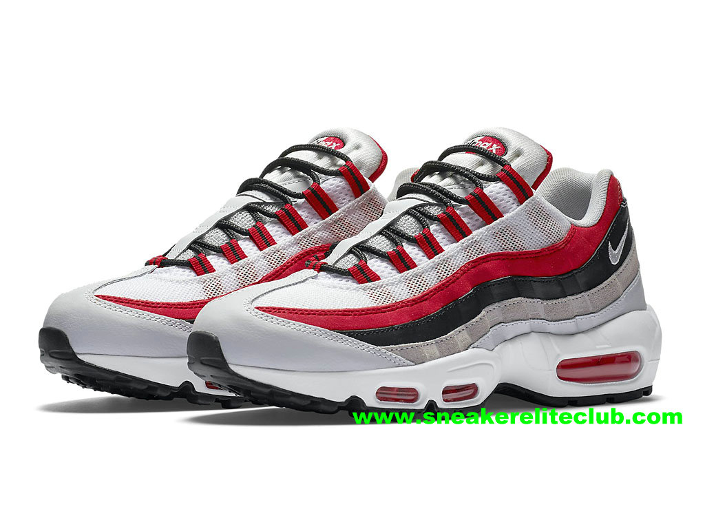 reputable site 5bf24 fef2a ... purchase chaussures de running nike air max 95 femme prix pas cher rouge  noir blanc 54bca