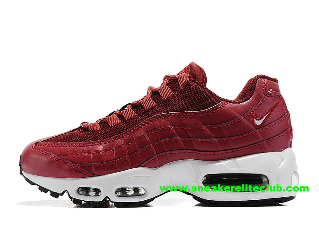 buy online f4d28 089c4 Chaussures De Running Nike Air Max 95 ID Femme Prix Pas Cher Rouge  307960ID008 ...