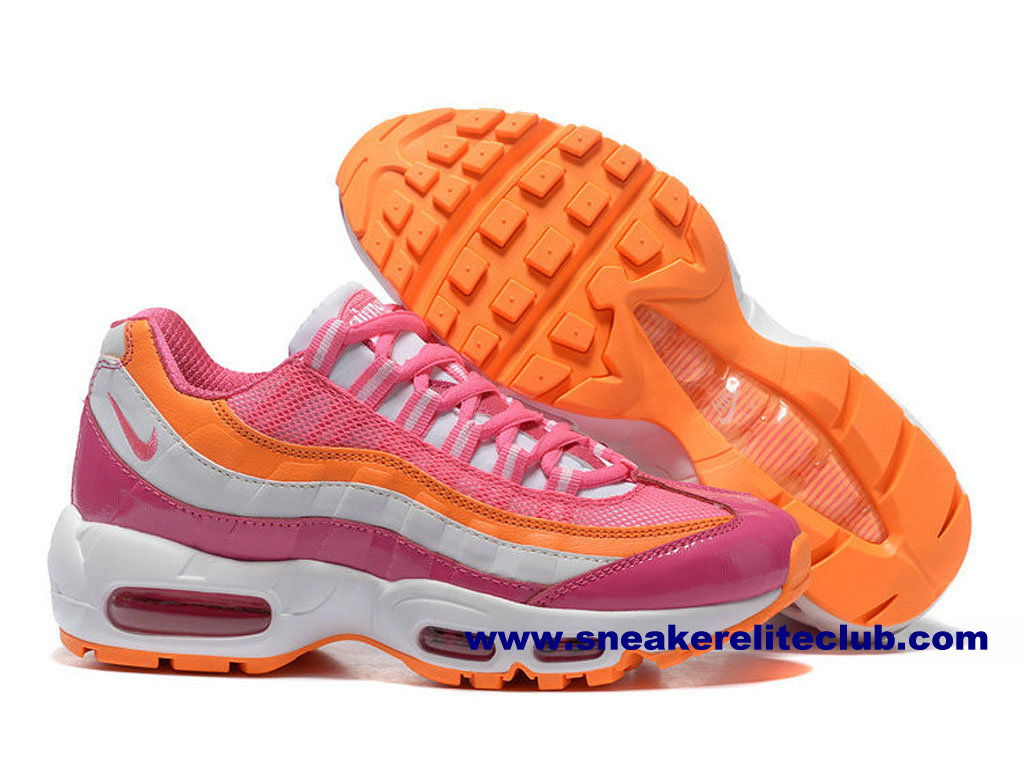 Nike 95 Air Femmes Max 596e2 F622a Orange Argent Authentic HqdTH
