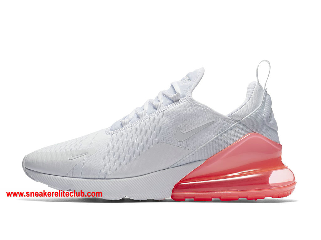 Chaussures Homme Nike Air Max 270 Pas Cher Prix Blanc/Rose ...