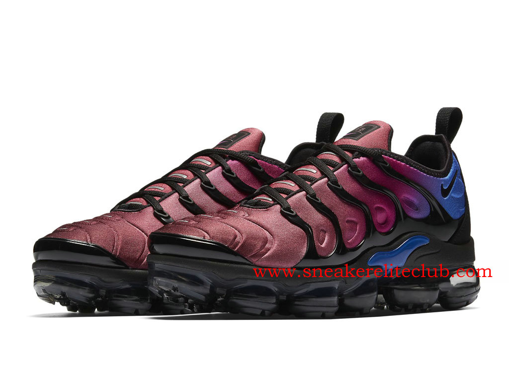 best cheap 21b15 60f99 ... denmark chaussures homme nike air vapormax plus pas cher prix black  team red violet ao4550001 21f6c ...
