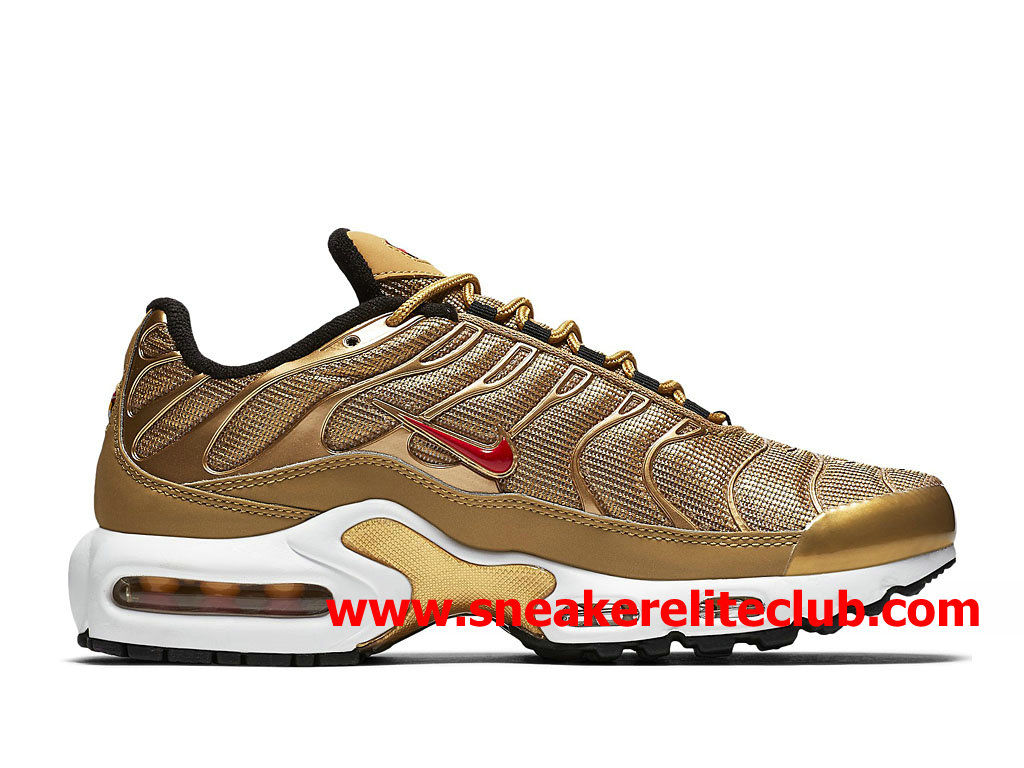 Chaussures Nike Air Max Plus TN Homme Pas Cher Prix Or Rouge ...