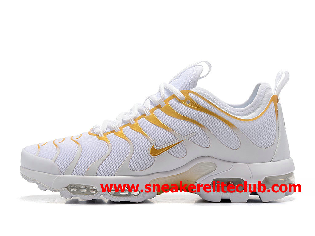 air max blanche et or