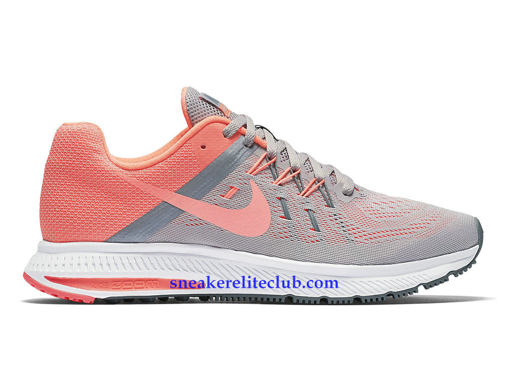 6326eb1c1a3ce9 Chaussures Nike Zoom Winflo 2 GS Femme Pas Cher Gris Rose Blanc 807279 502  ...