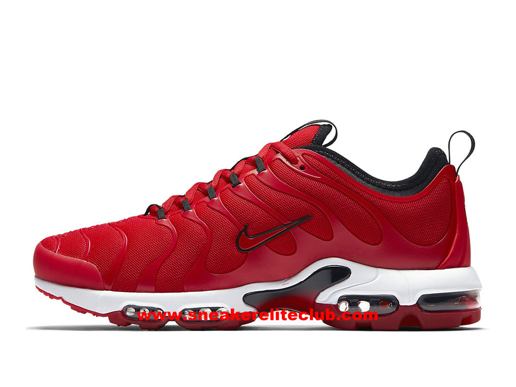 low priced 75365 b5a43 Chaussures Running Homme Nike Air Max Plus TN Ultra Prix Pas Cher RougeBlanc  ...