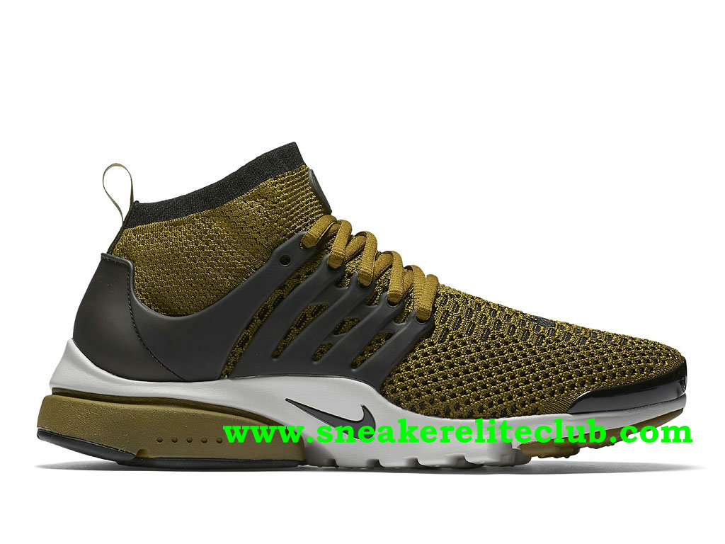 Chaussures Running Nike Air Presto Flyknit Ultra Homme Prix Pas Cher Noir/Olive Vert 835570_300 ...