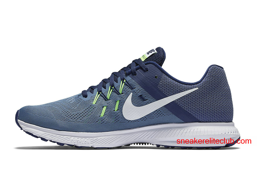 newest ddc6d 994c3 ... order chaussures running nike zoom winflo 2 prix pas cher pour homme  gris bleu blanc 4393f