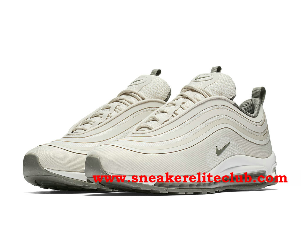 promo code e78f7 38bcf ... Nike Air Max 97 Ultra Chaussures De Running Pas Cher Prix Pour Homme  Beige White 918356 100 ...