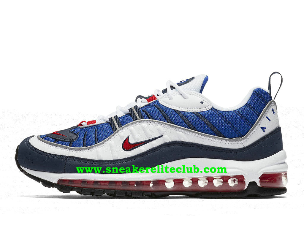 save off get online shades of Nike Air Max 98 Gundam Chaussures Prix Pas Cher Pour Homme Bleu ...