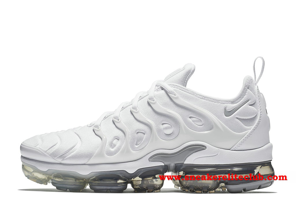 newest collection popular stores on feet images of Nike Air Vapormax Plus Homme Chaussures Prix Pas Cher Blanc/Gris ...