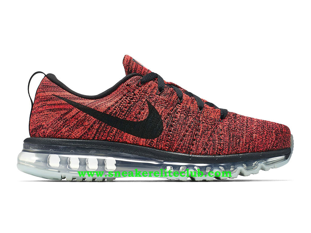 Nike Flyknit Air Max Chaussures Running Pour Homme Rouge/Noir/Gris