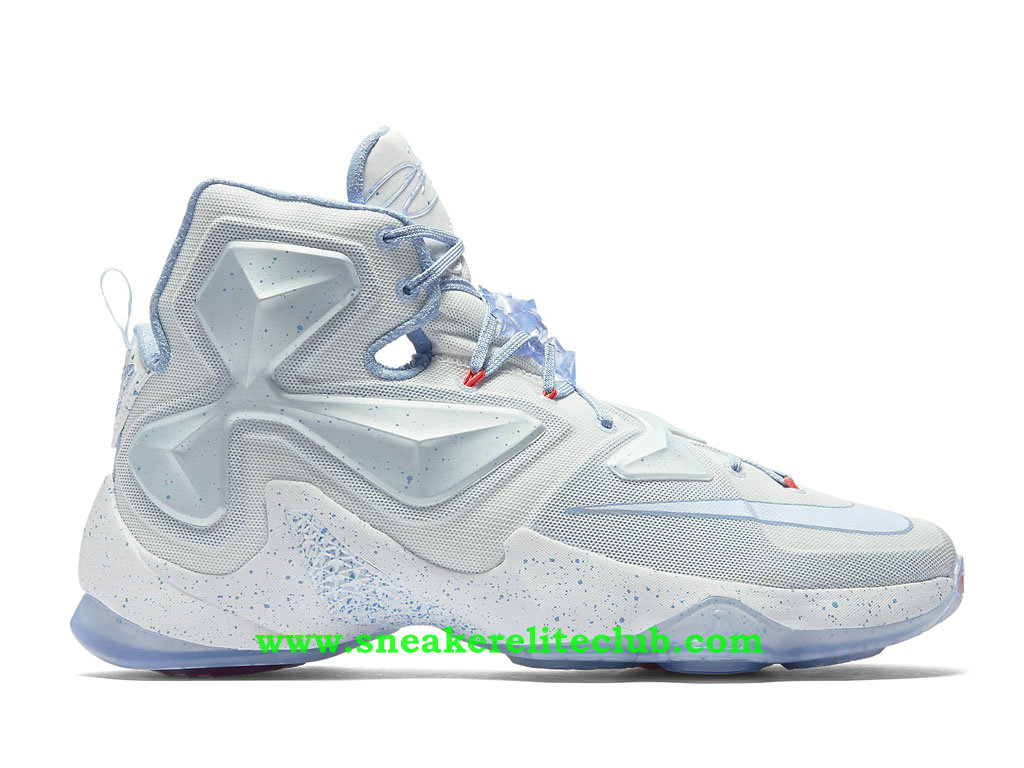 quality design f3ad1 731ad Nike Lebron XIII 13 Christmas Chaussure De BasketBall Pas Cher Pour Homme  Blanc Bleu