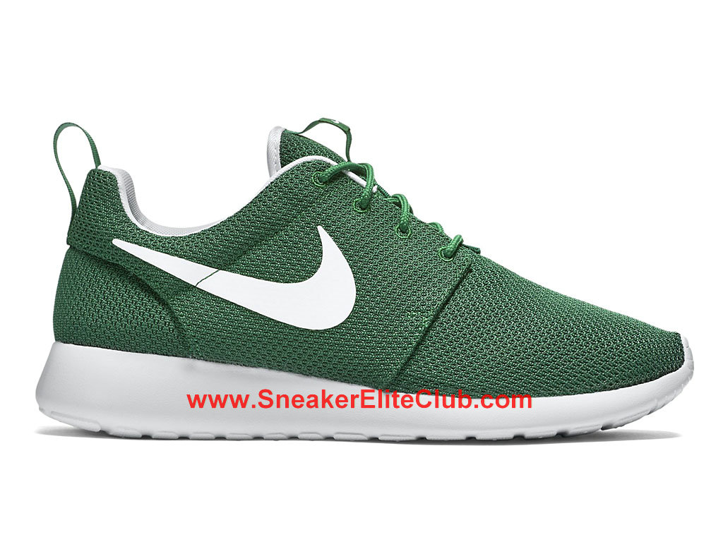 lowest discount speical offer huge selection of Nike Roshe One Chaussures De Running Pour Homme Vert Blanc ...